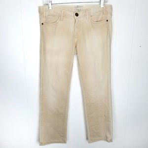 Current/Elliott Size 28 The Matchstick Crop Cream